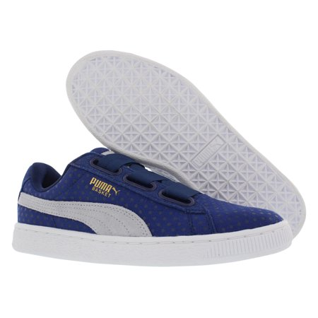 97310bfe817c PUMA - Puma Basket Heart Denim Athletic Women s Shoes Size - Walmart.com