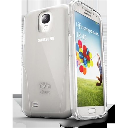- iSkin CLROS4-CR1 Claro Clear Hard With Soft Case For Samsung Galaxy 4, Clear