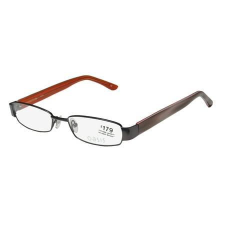 New Oasis Briar Womens/Ladies Designer Full-Rim Dark Brown / Gray Horn Gorgeous Contemporary Ophthalmic Frame Demo Lenses 51-17-140 Eyeglasses/Eye (Ophthalmic Glasses)