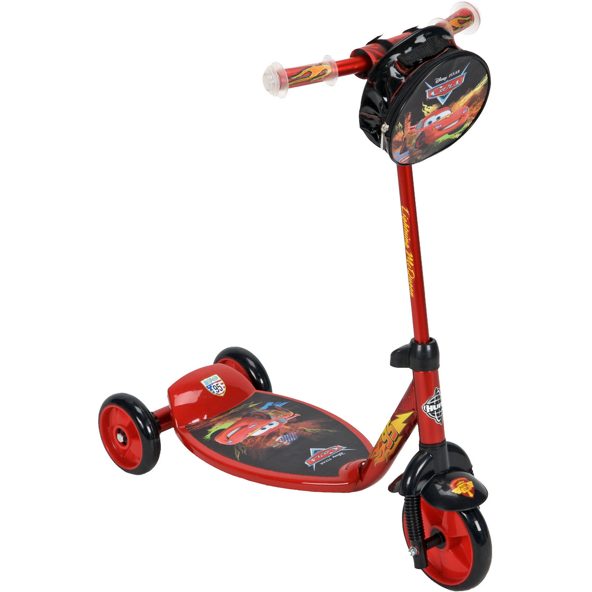Huffy Disney Cars 3-Wheel Preschool Scooter, Red