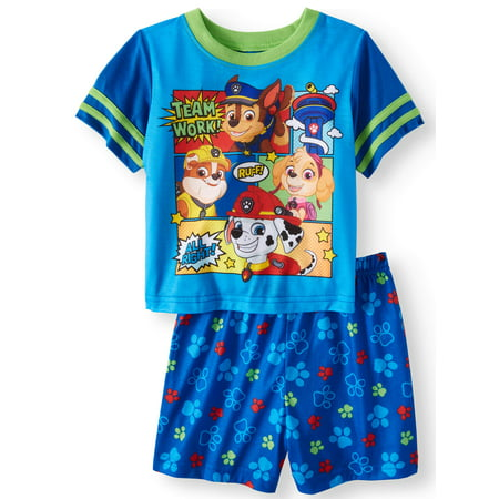 Mlp Pajamas (Paw Patrol Short sleeve shirt & shorts, 2pc pajama set (toddler)