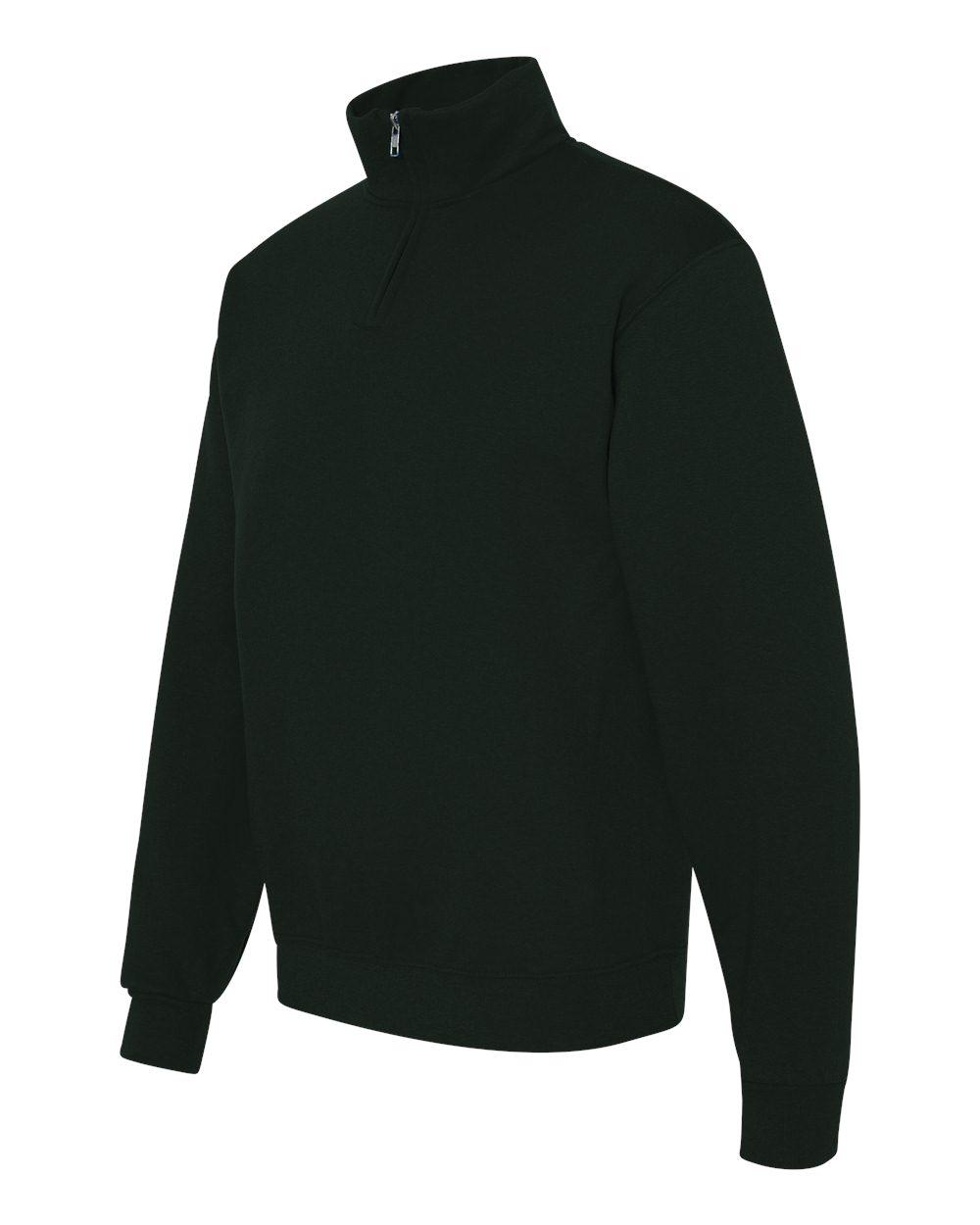 50//50 NuBlend Quarter-Zip Cadet Collar Sweatshirt 995M -CHARCOAL GREY-L Jerzees mens 8 oz