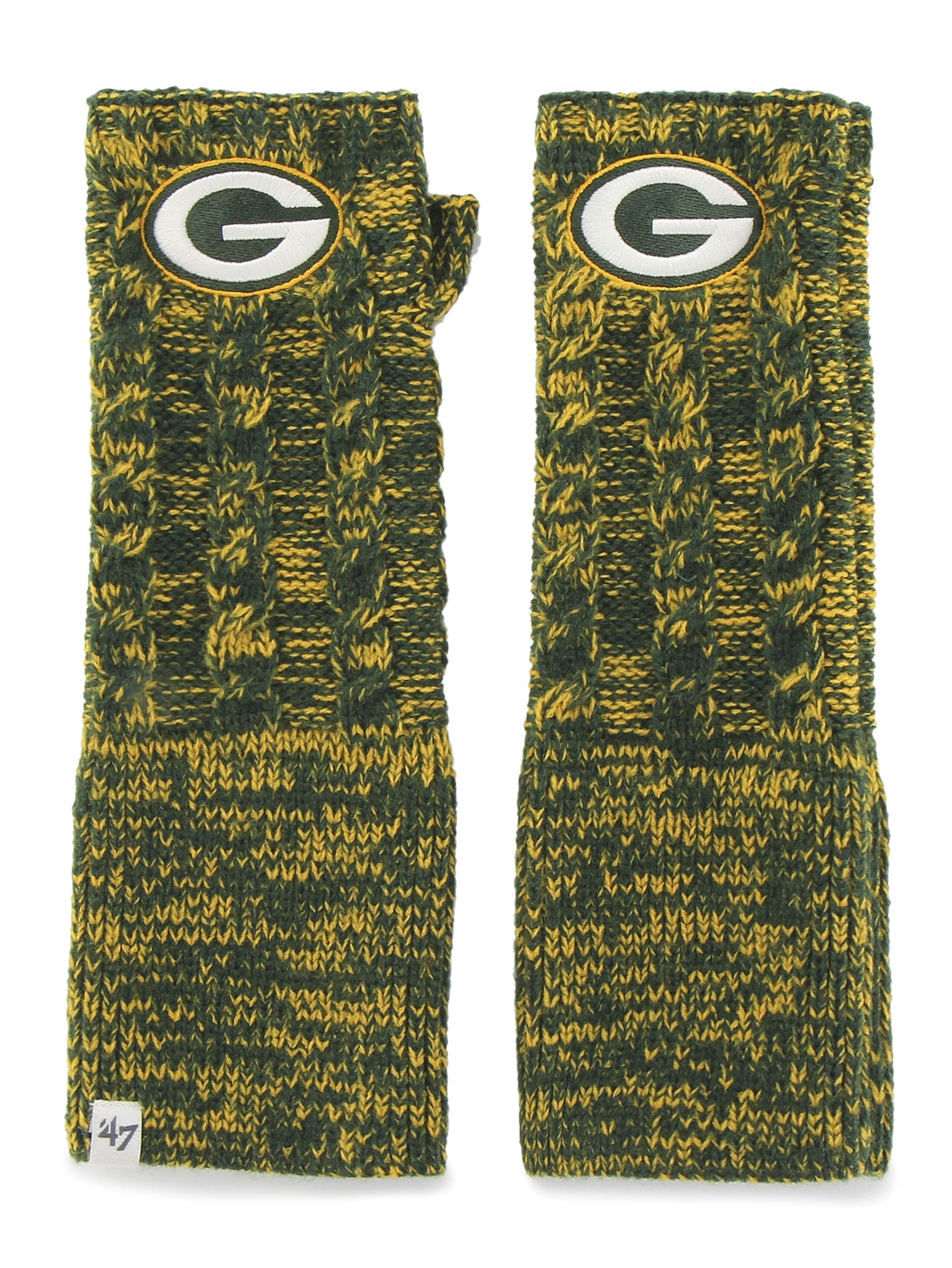 Green Bay Packers Prima Women's Dark Green Arm Warmer Gloves by 47 Brand