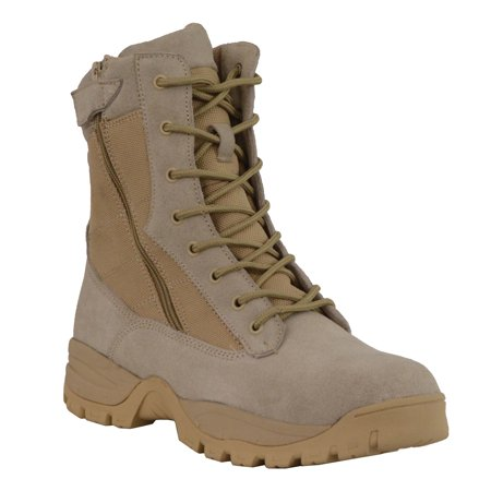 Milwaukee Leather Mens 9in Desert Sand Leather Tactical Boots with Side (Mens Desert Boot)