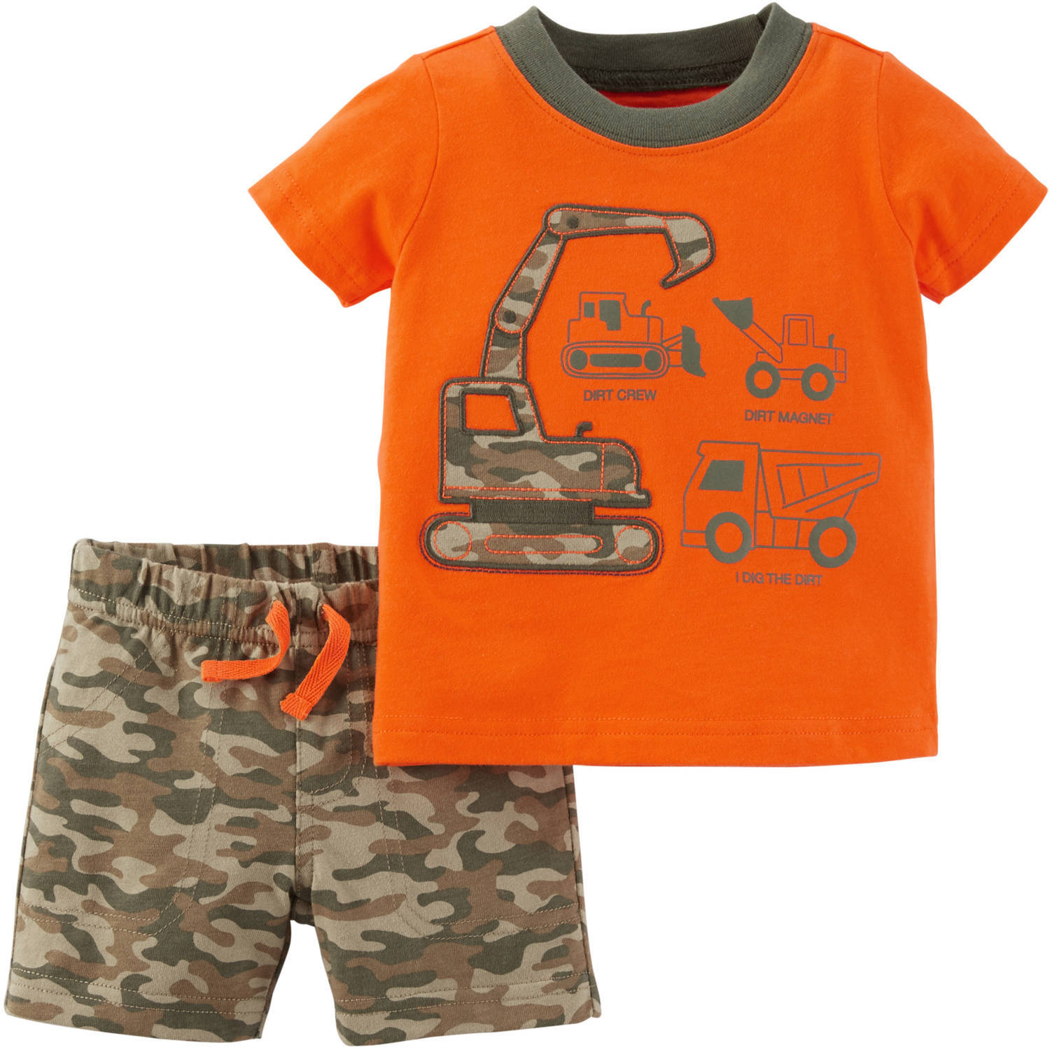 Child of Mine by Carter's Newborn Baby Boy Tshirt and Shorts Outfit Set