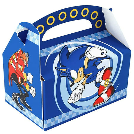 Sonic The Hedgehog Party Supplies 4 Pack Favor Box