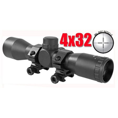 4x32 Rifle Scope Mil Dot Reticle, Us Army Project Salvo Paintball Gun Scope, Us Army Alpha Black Elite Gun Scope, Tippmann Paintball, Paintball, Paintball Scope,.., By Trinity from USA