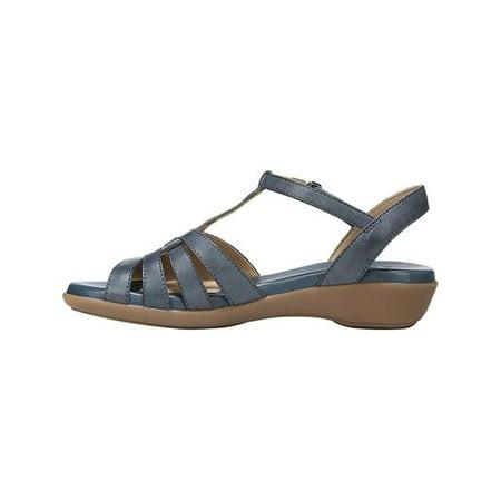 77221818115d Naturalizer - Naturalizer Womens Nanci Leather Open Toe Casual T-Strap  Sandals - Walmart.com