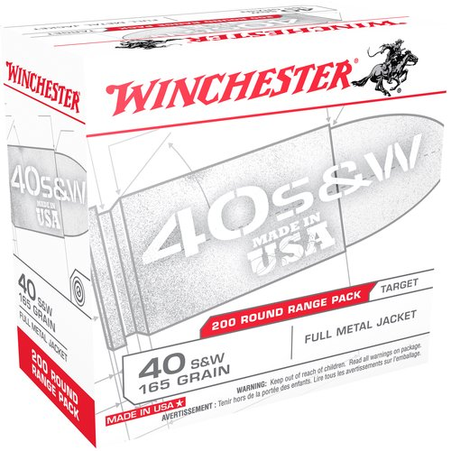 Winchester 40 S and W 165-Grain Full Metal Jacket