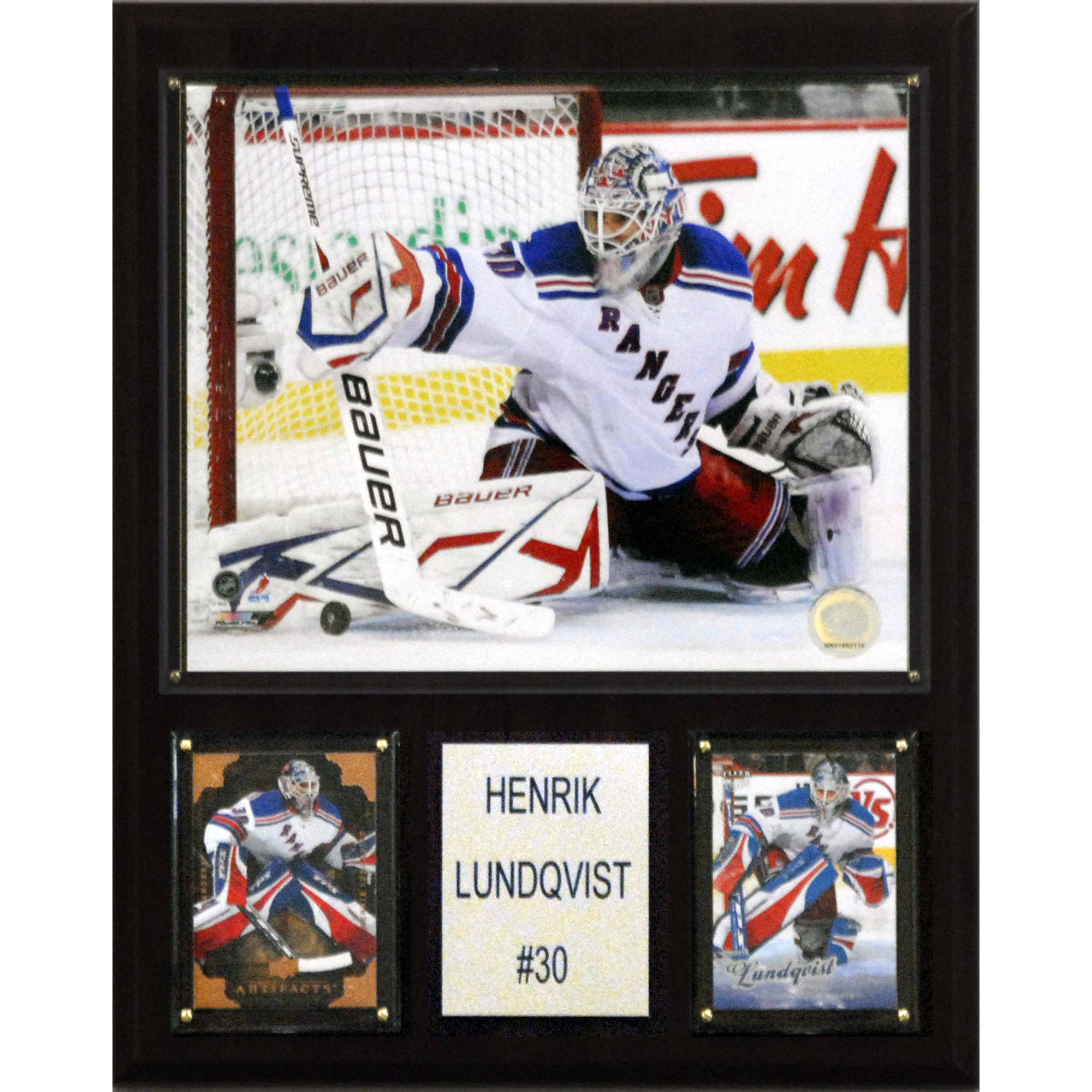 C&I Collectables NHL 12x15 Henrik Lundqvist New York Rangers Player Plaque