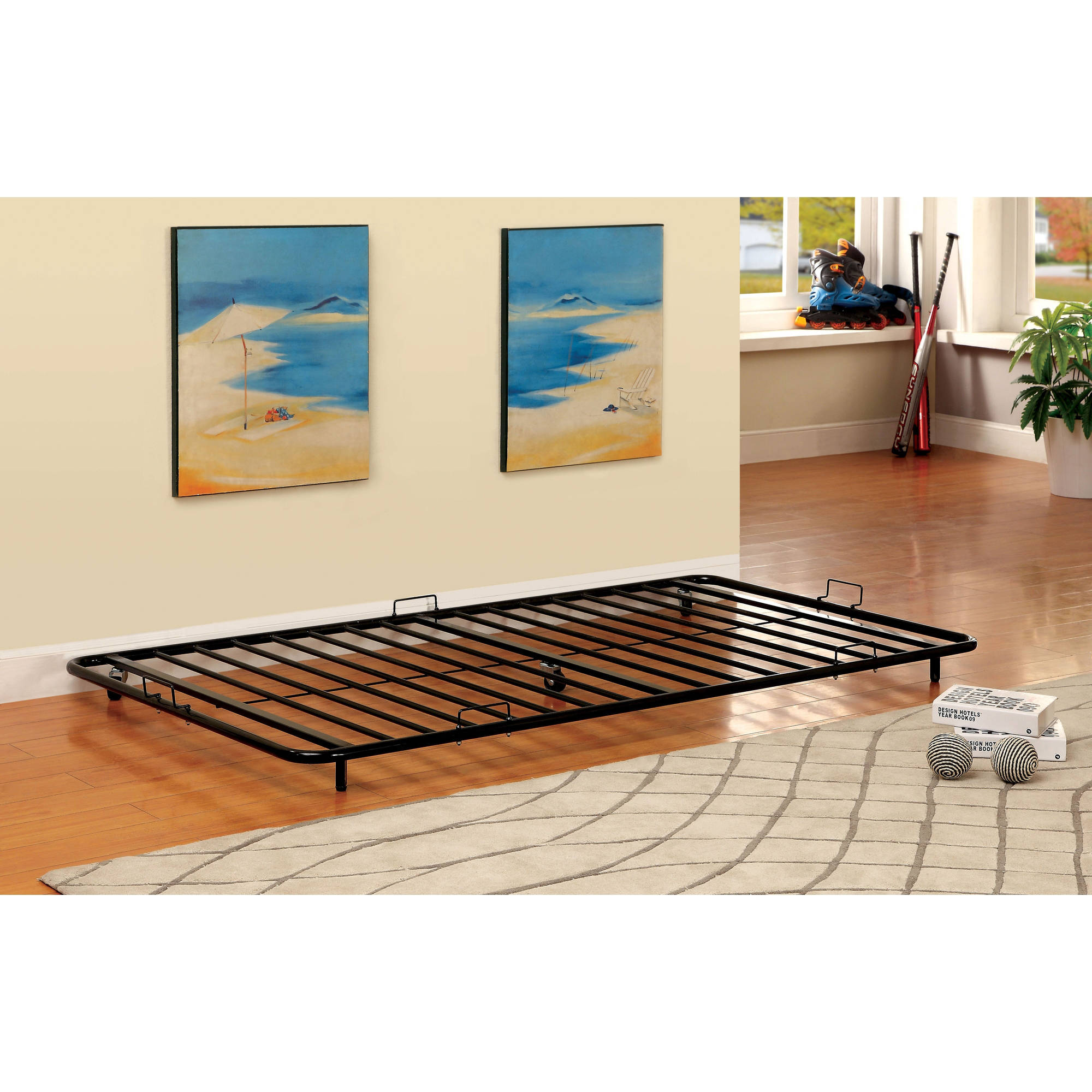 Furniture of America Akina Metal Twin Size Trundle Bed