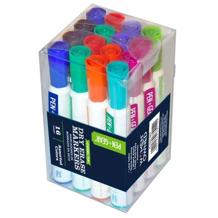 Pen+Gear WIDE BARREL DRY ERASE MARKER 16CT ASSORTED COLOR PACK