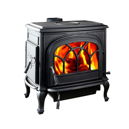 - HiFlame Stallion HF737U Double Door Large 2200sq ft Wood Burning Stove