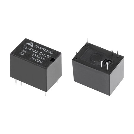 5 Pcs TL-4100-C-12V DC 12V Coil SPDT 6 Pin PCB Electromagnetic Power Relay NO+NC - image 1 of 3