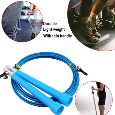 HC-TOP Cable Steel Jump Skipping Jumping Speed Fitness Rope Cross Fit MMA Boxing - image 6 de 7