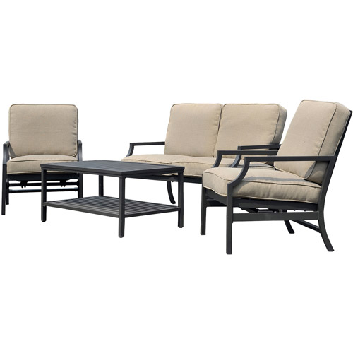 Sunjoy Sumpter 4-Piece Outdoor Deep Seating Set