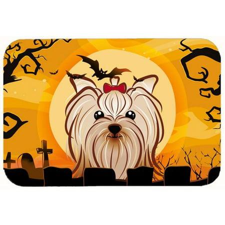 Caroline's Treasures Halloween Yorkshire Terrier Kitchen/Bath Mat