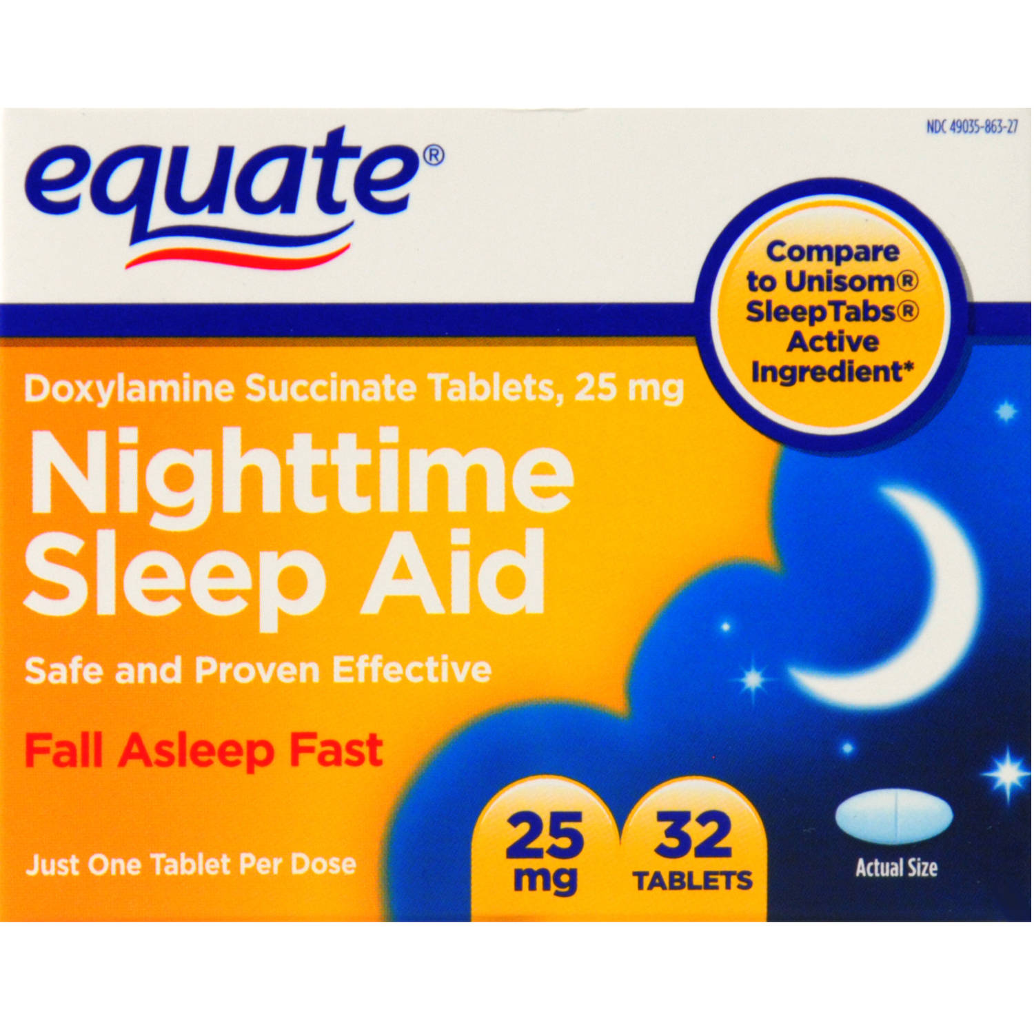 Equate  Sleep Aid Tablets 32 Ct