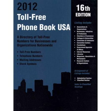 Toll Free Phone Book Usa 2012
