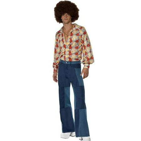 1970s Retro Adult Costume - Large (1970's Halloween Costumes In A Box)