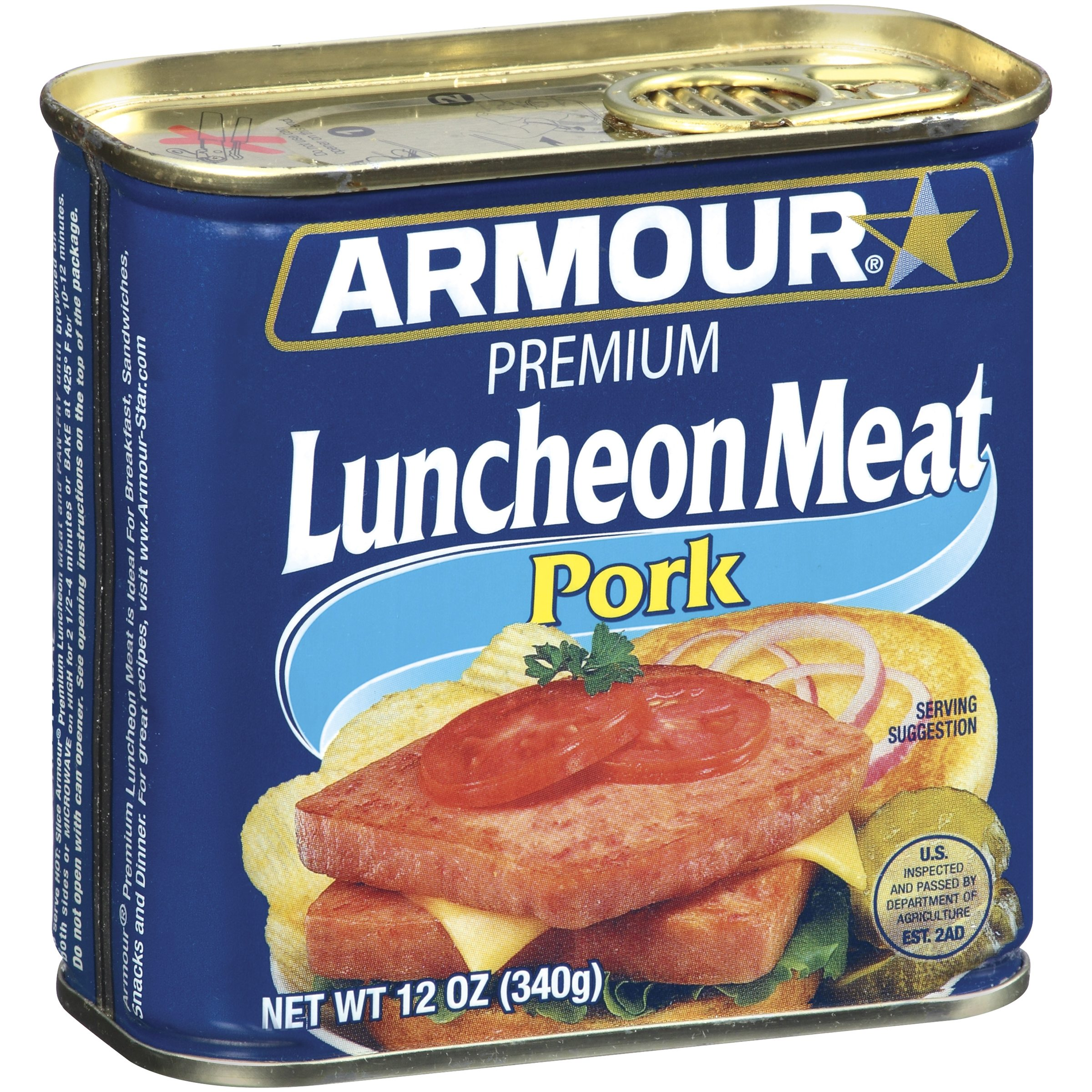 Armour Premium Pork Luncheon Meat 12 oz. Can by Pinnacle Foods Group, Llc