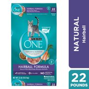 Purina ONE Hairball, Natural Dry Cat Food, Hairball Formula, 16 lb. Bag