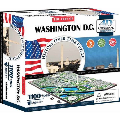4D Cityscape Washington D.C. History Time Puzzle, 1,100+ Pieces