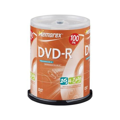 Memorex 05641 DVD-R 16X 4.7GB for General use 100/spindle