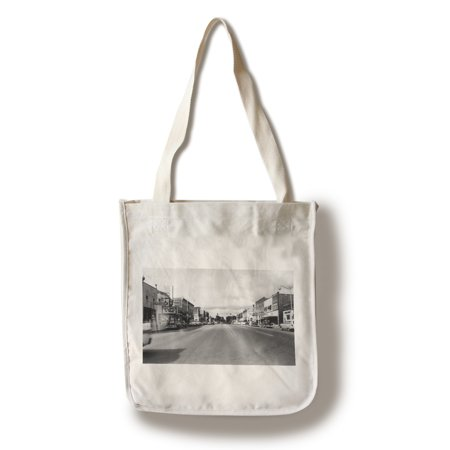 West Branch, Michigan - Eastern End of City Street Scene (100% Cotton Tote Bag - Reusable)
