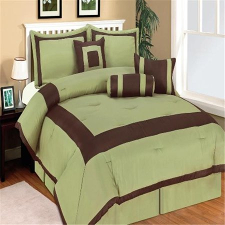 king green comforter collection 7 piece bedding set