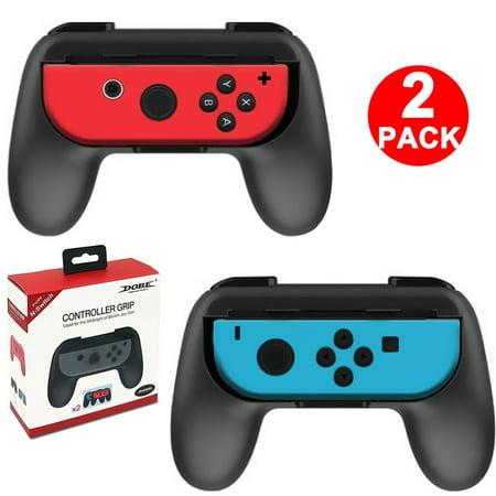 TSV 2Packs Joy-Con Grips Kit Controller Handle Handheld Holder For Nintendo Switch