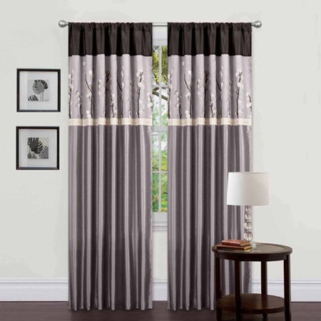 Cocoa Blossom Window Curtains, Pair, 42