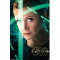 Star Wars The Force Awakens Leia Closeup Portrait Movie Poster 22x34
