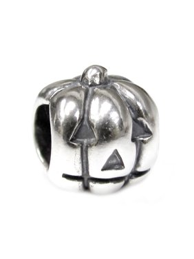 921908256 Product Image Queenberry Sterling Silver Petite Jack-o-lantern European  Style Bead Charm Fits Pandora