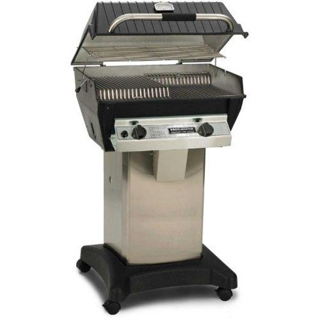 Combination Gas Grill - Broilmaster R3bn Infrared Combination Natural Gas Grill On Stainless Steel Cart