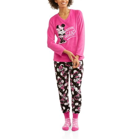 a54a3e4697e Women s and Women s Plus License Pajama Plush Fleece Sleep Top and ...