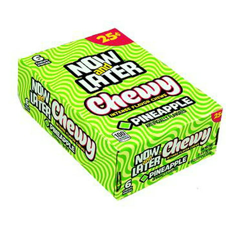 Now and Later Chewy Pineapple Flavored Candy Twenty Four 6-piece .93 oz Bars](Halloween H2o 20 Years Later)