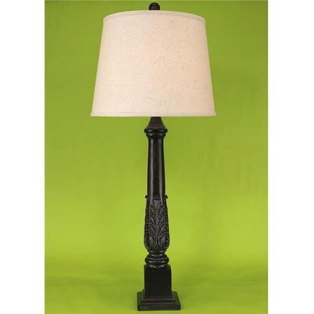 (Coast Lamp Manufacturer 14-C22D Verdi Gold Acanthus Table Lamp - 34 in.)