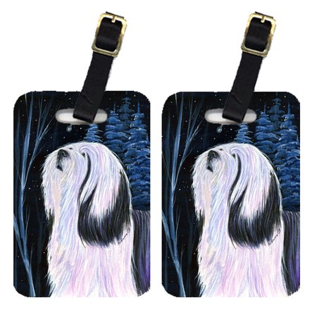 Pair of 2 Tibetan Terrier Luggage Tags