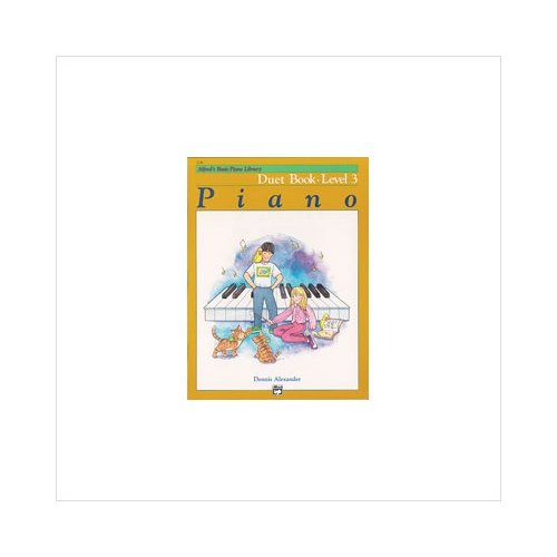 Alfred 00-2234 Basic Piano Course- Duet Book 3 - Music Book