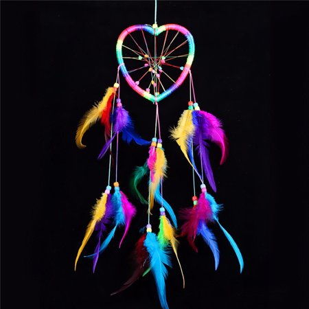 6 Styles Handmade Dream Catcher with Colorful Feather for Wall Car Home Hanging Decoration Ornament - Walmart.com