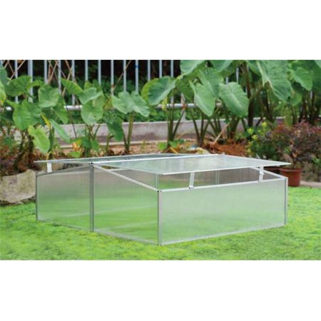 Image of Double-Wide Folding Aluminum Cold Frame Greenhouse