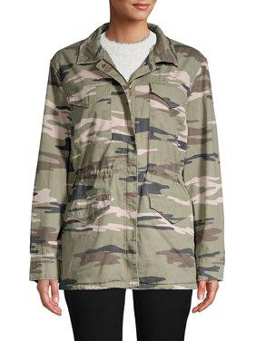 Camo Faux-Fur Lined Jacket