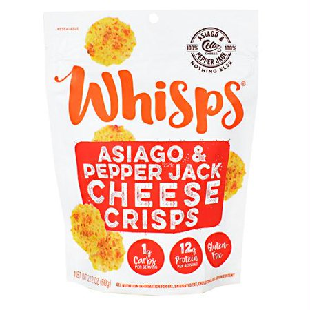 Pepper Jack Cheese - (Price/Case)Cello CELWHISP0PJ Whisps Asiago Pepper Jack 12-2.12 Ounce