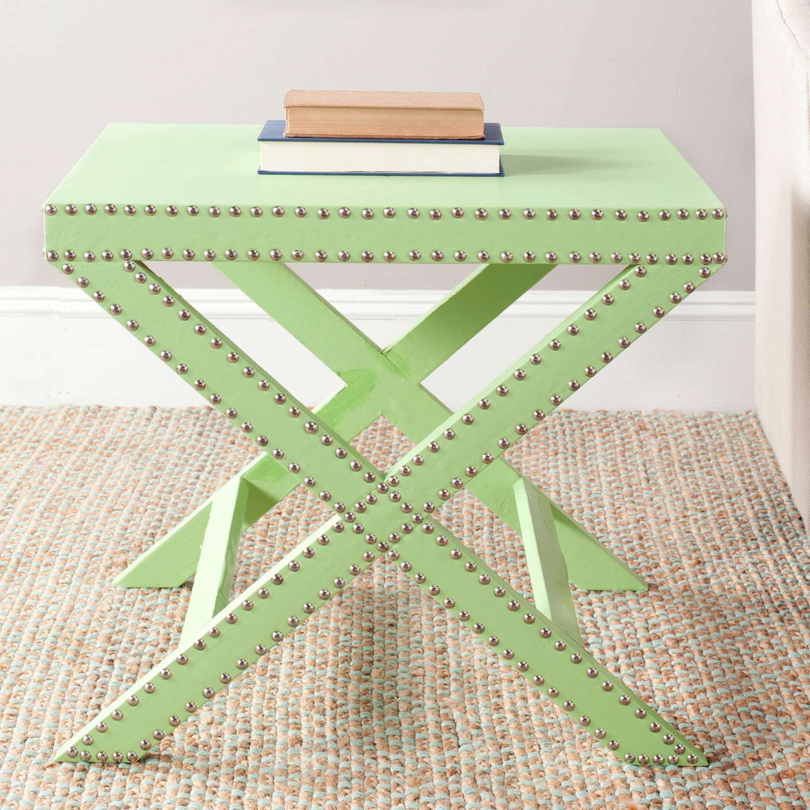Safavieh Jeanine X End Table, Multiple Colors