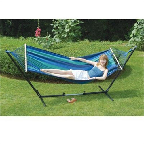 Click here to buy Stansport 31190 Cayman Hammock Stand Combo 79 In X 48 In by Stansport.