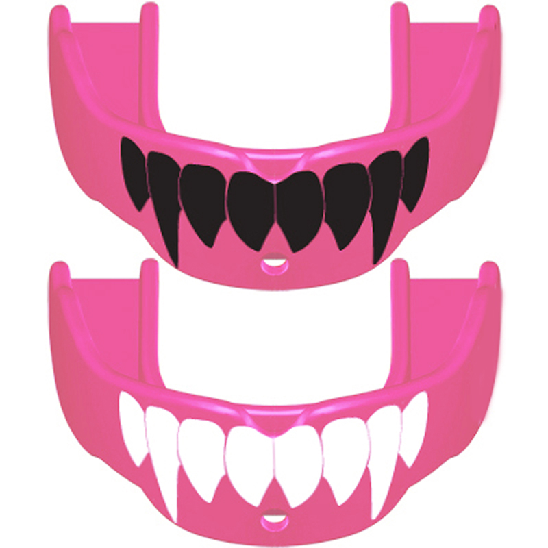 Battle Fang-Edition Mouth Guard (2-Pack) (Red/White, Adult (Age 10 & Up))