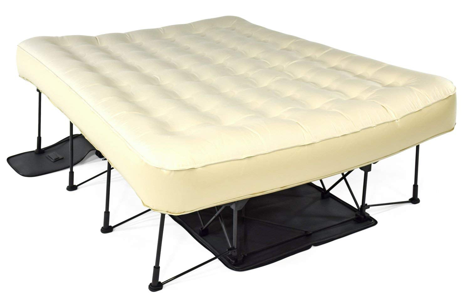 Ivation Ez Bed Queen Air Mattress With Frame Rolling Case