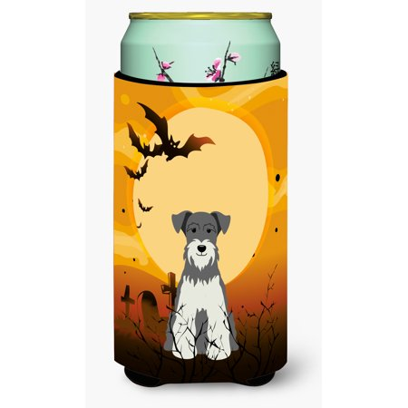 Halloween Miniature Schanuzer Salt and Pepper Tall Boy Beverage Insulator Hugger BB4320TBC - Salt And Pepper Dog Halloween Costumes