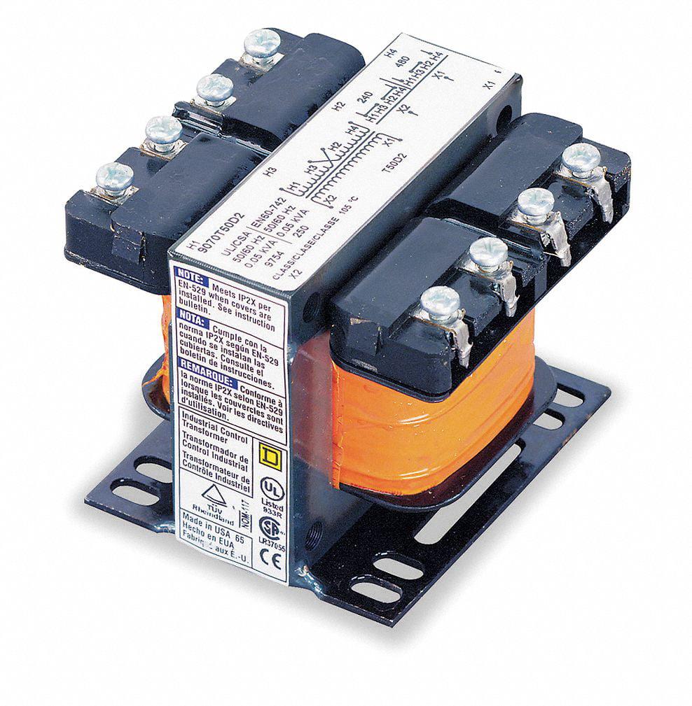 Square D Control Transformer, Input Voltage: 208VAC, Output Voltage: 120VAC